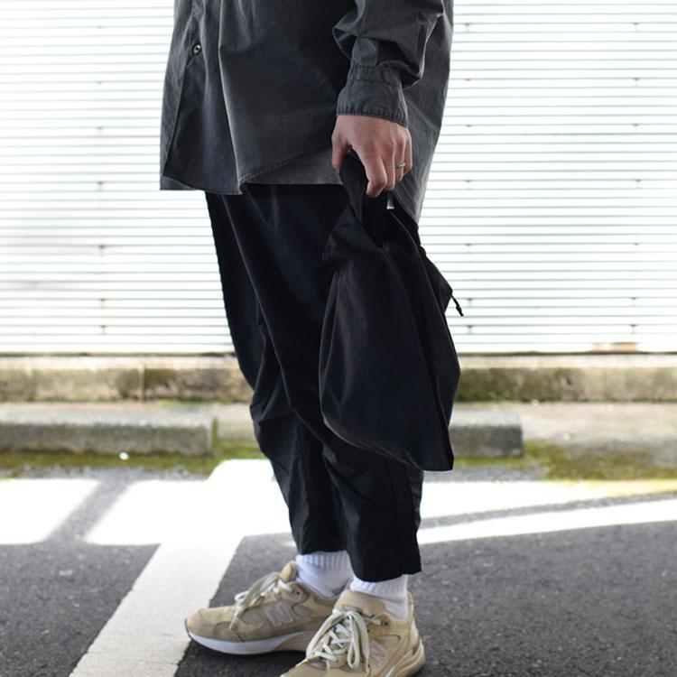 hobo(ホーボー)/NYLON TUSSAH CARRIER BAG ナイロンタッサーキャリーバッグ【2021春夏】【ネコポス1点まで可能】