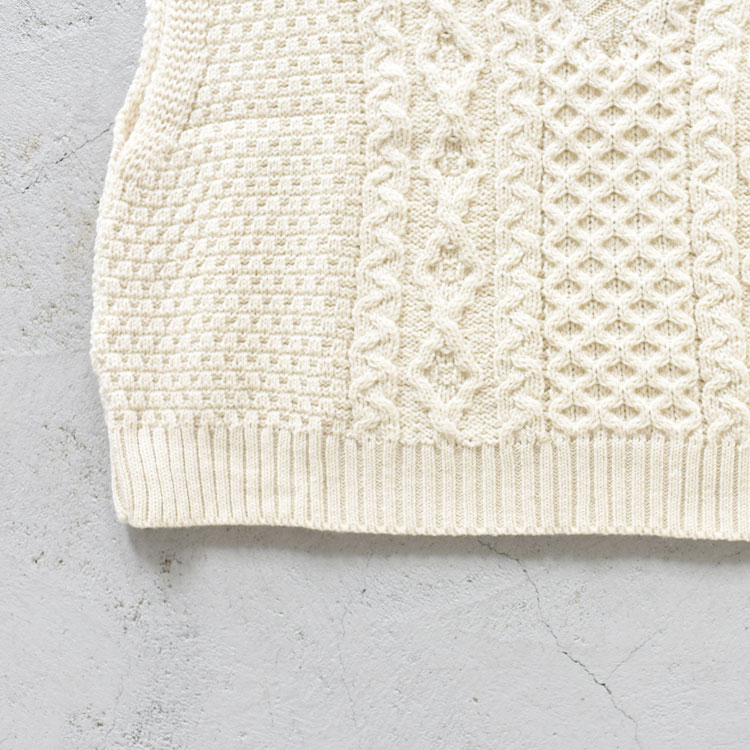Oldderby Knitwear(オールドダービーニットウェア)/アランベストノーリーブ【2021秋冬】