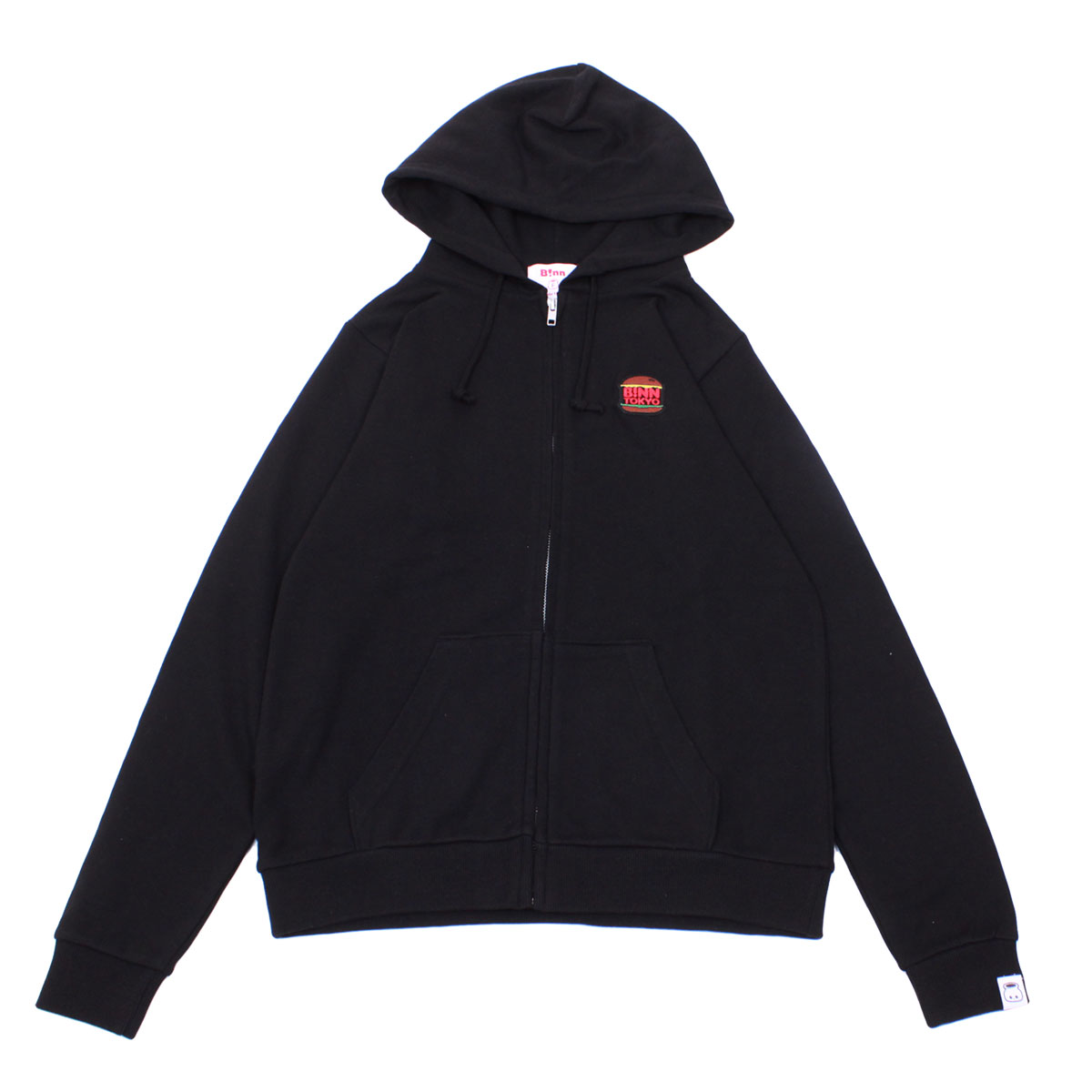 Burger Full Zip Hoodie (Black)