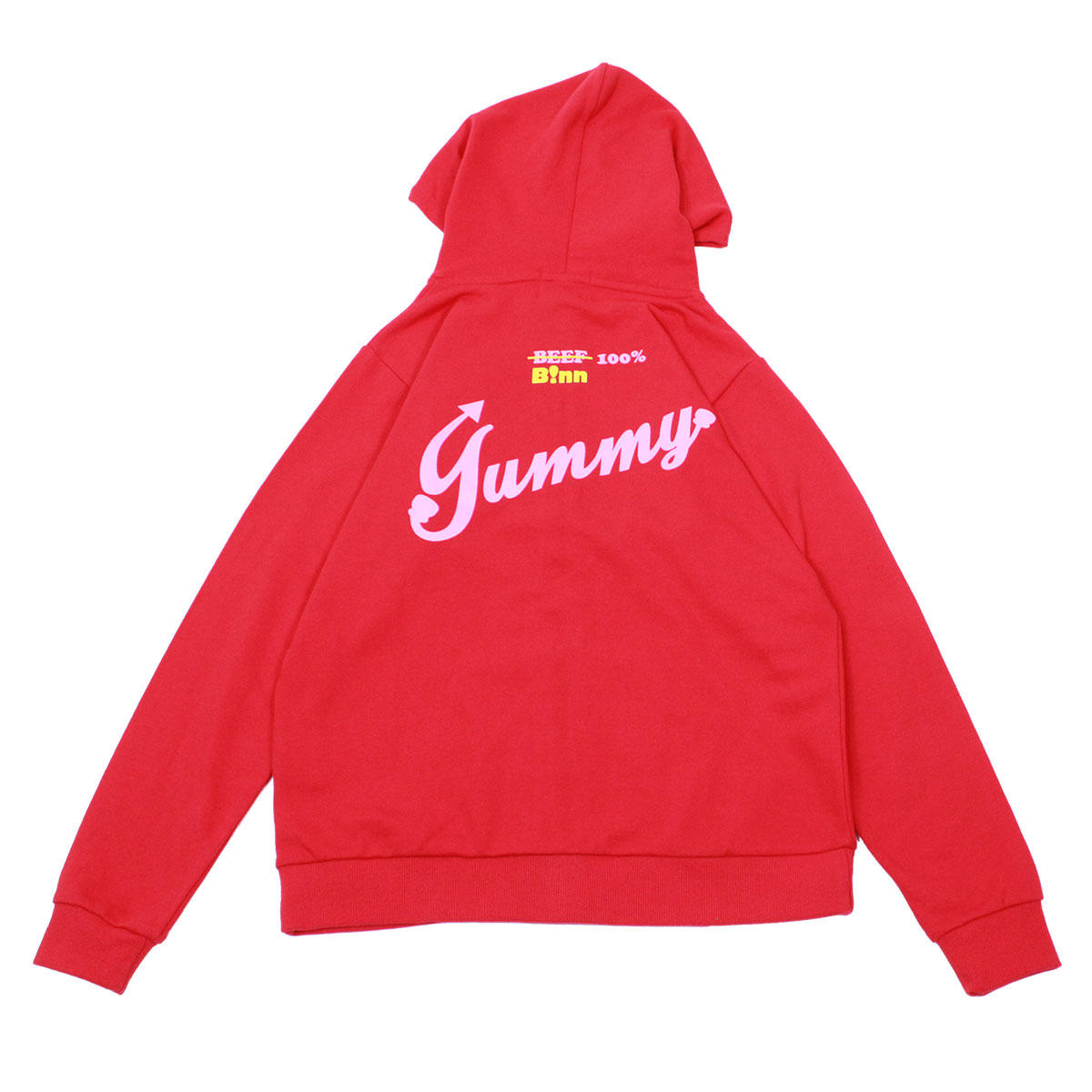 Burger Full Zip Hoodie (Red)
