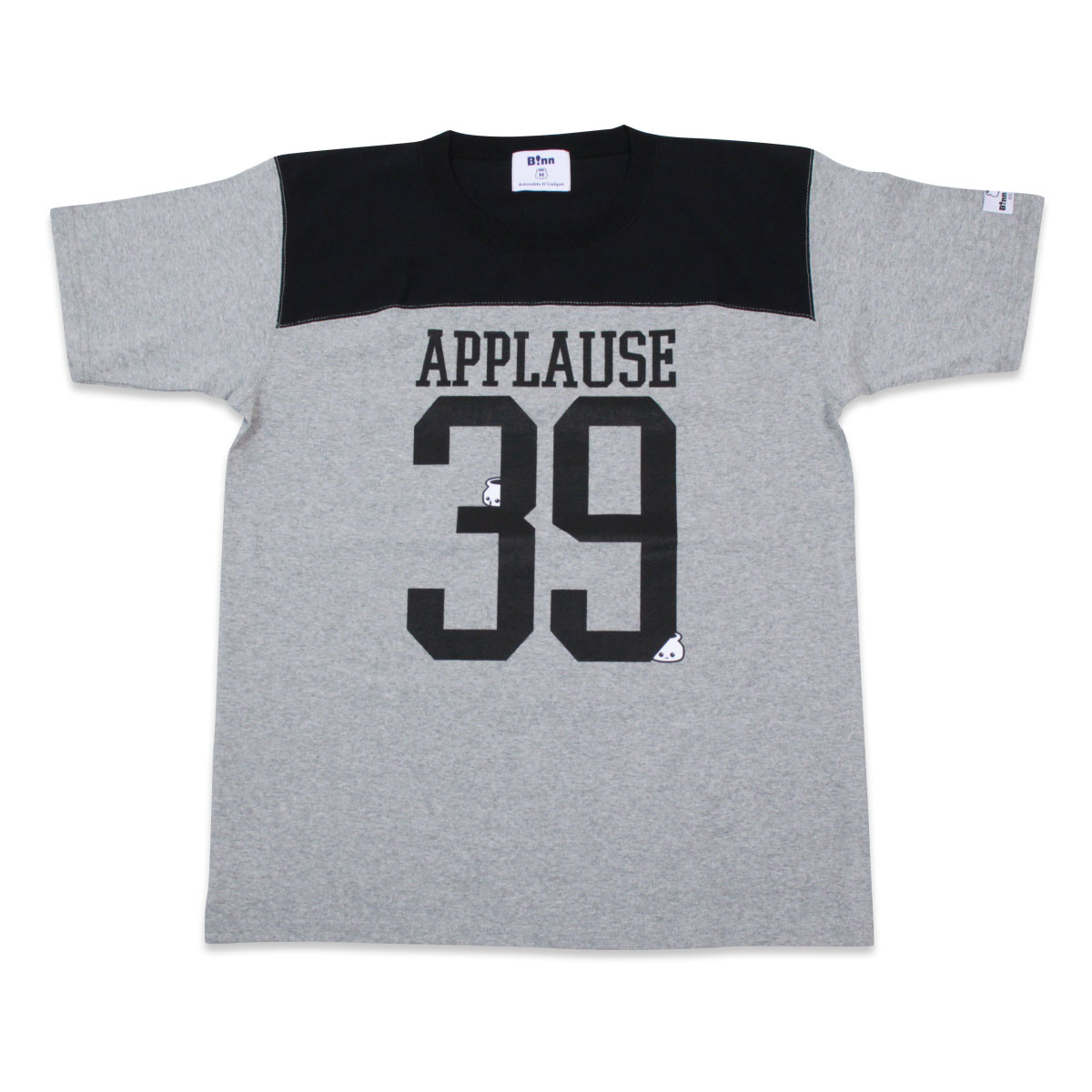 applause フットボールT(Grey x Black)