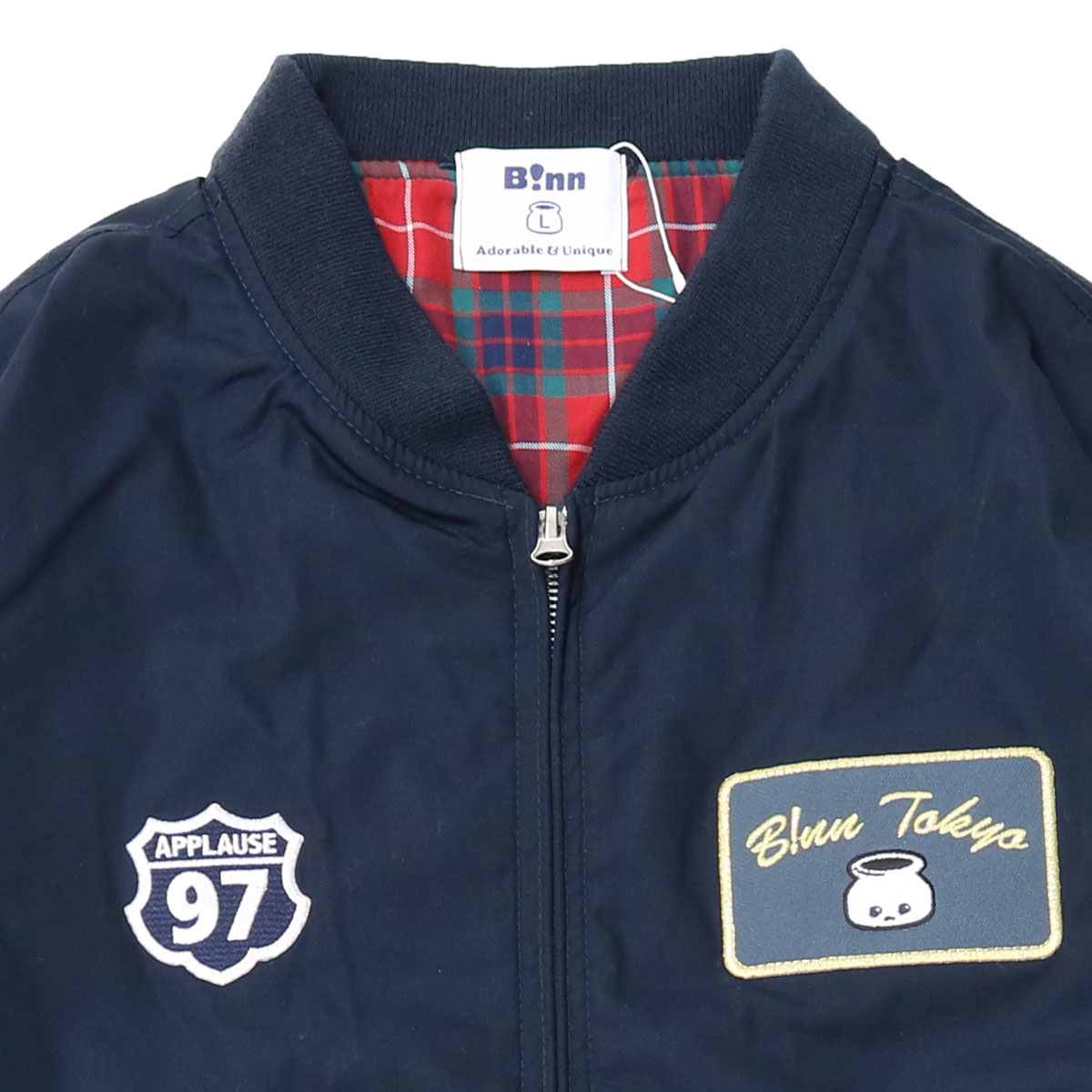 Patches Stadium Jacket (Navy)