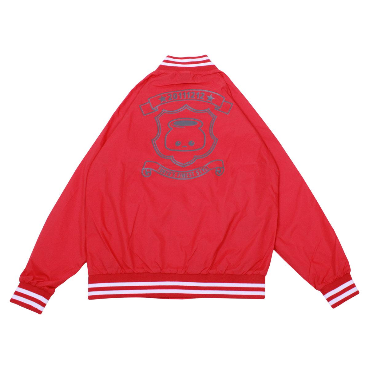 Nylon Stadium Jacket (Red)