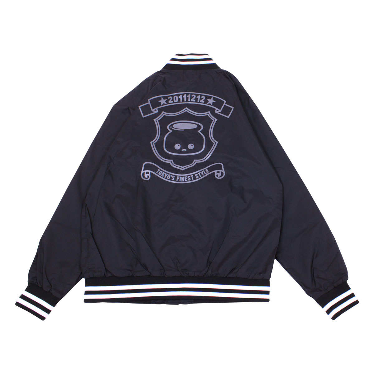 Nylon Stadium Jacket (Black)