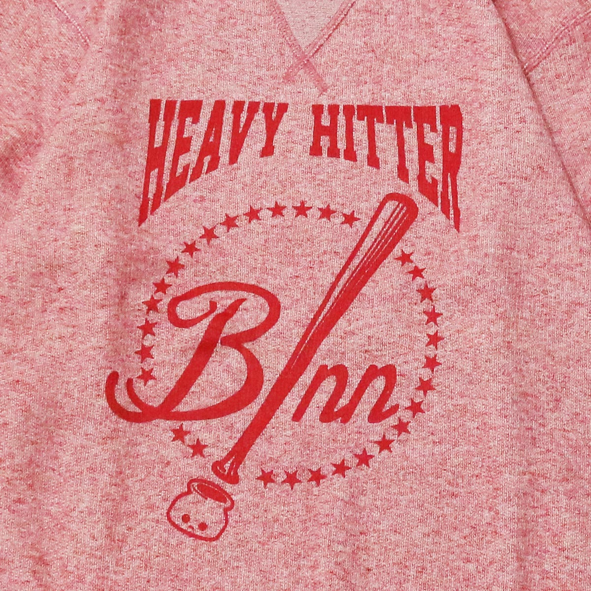 HEAVY HITTER Crew Sweat (HeatherRed)