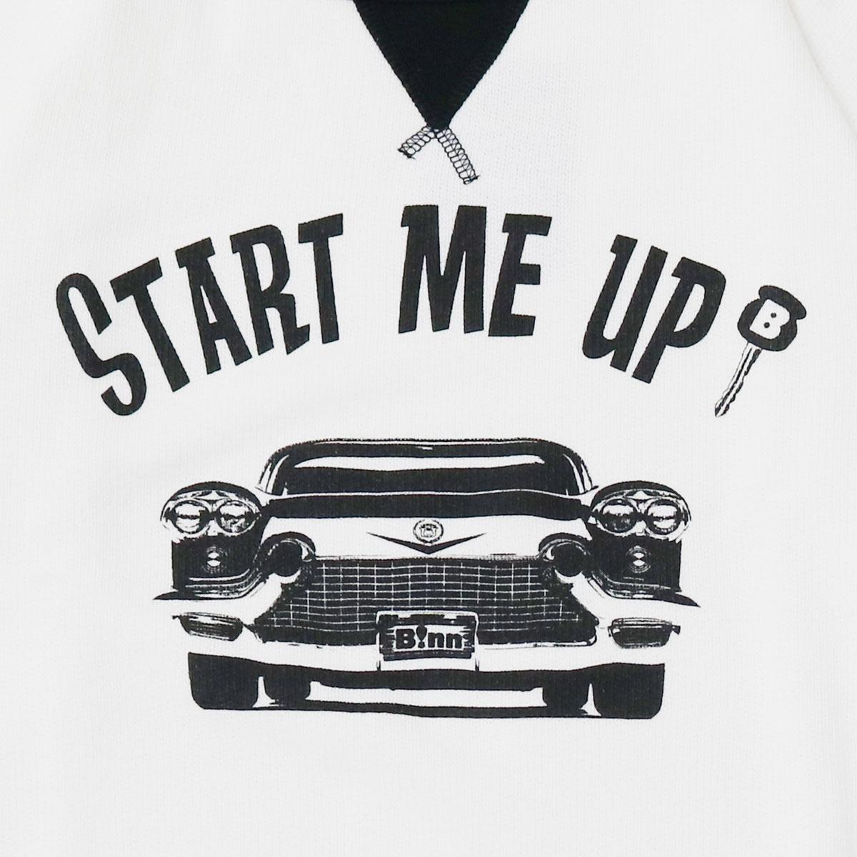 START ME UP! Crew Sweat (White x Black)