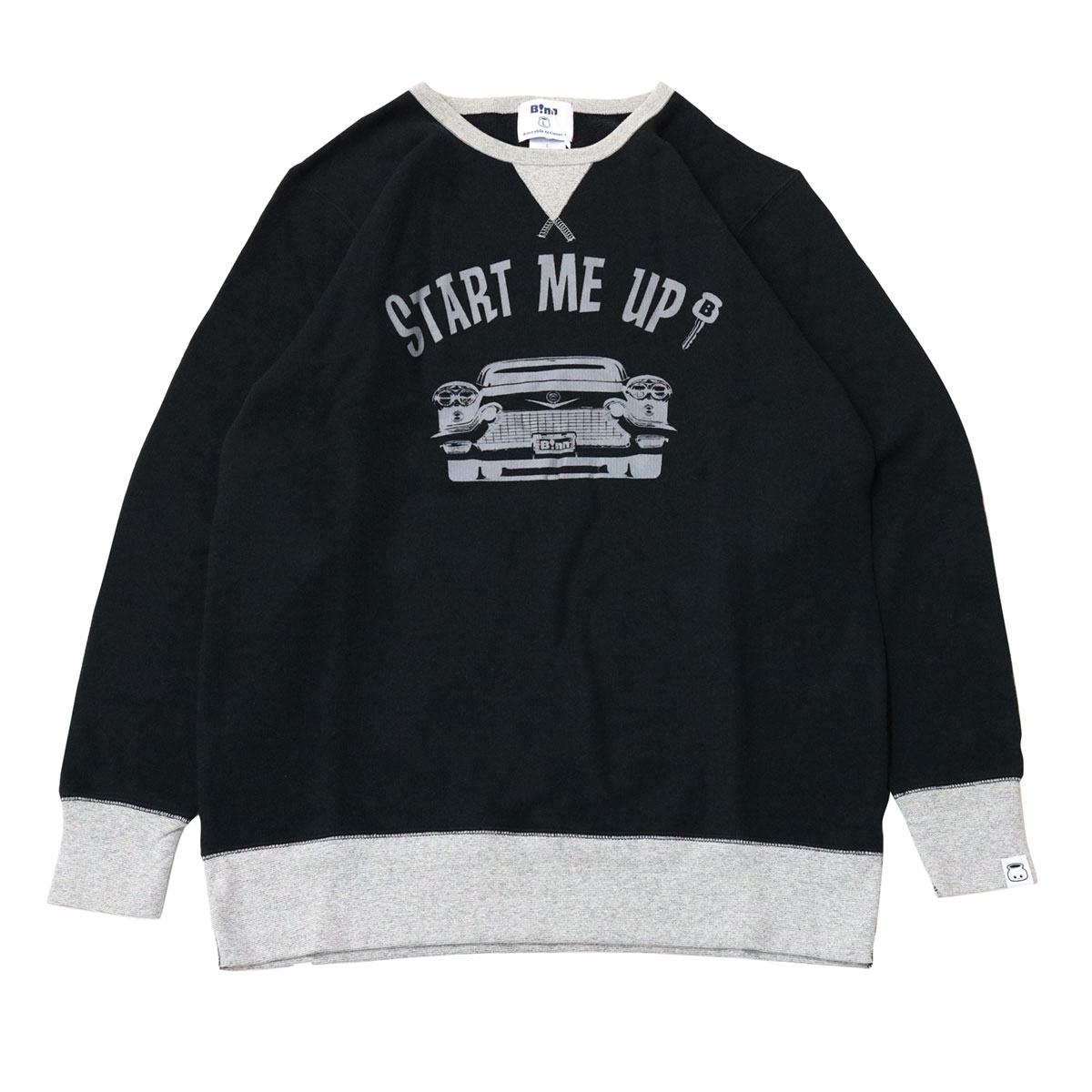 START ME UP! Crew Sweat (Black x Gray)