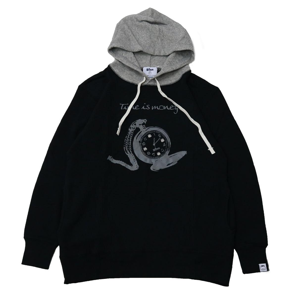 TIME IS MONEY Hoodie (Black x Gray)