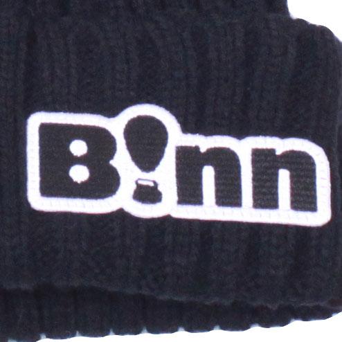 B!nn Rib Beanie Cap (Black)