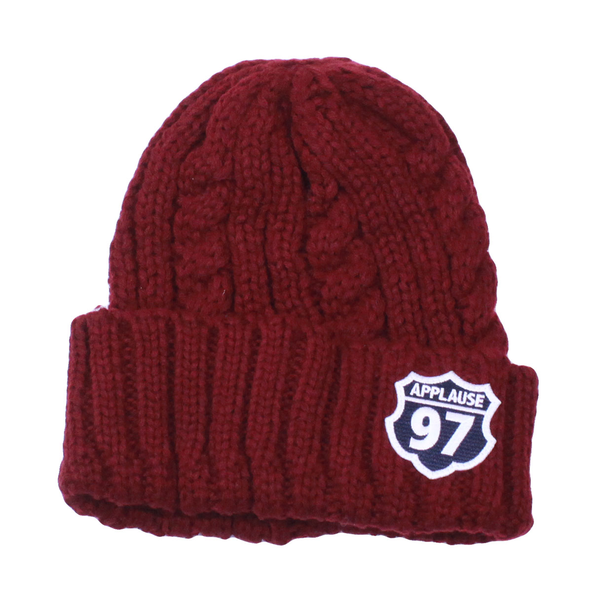 AP97 CABLE Beanie Cap (Bordeaux)