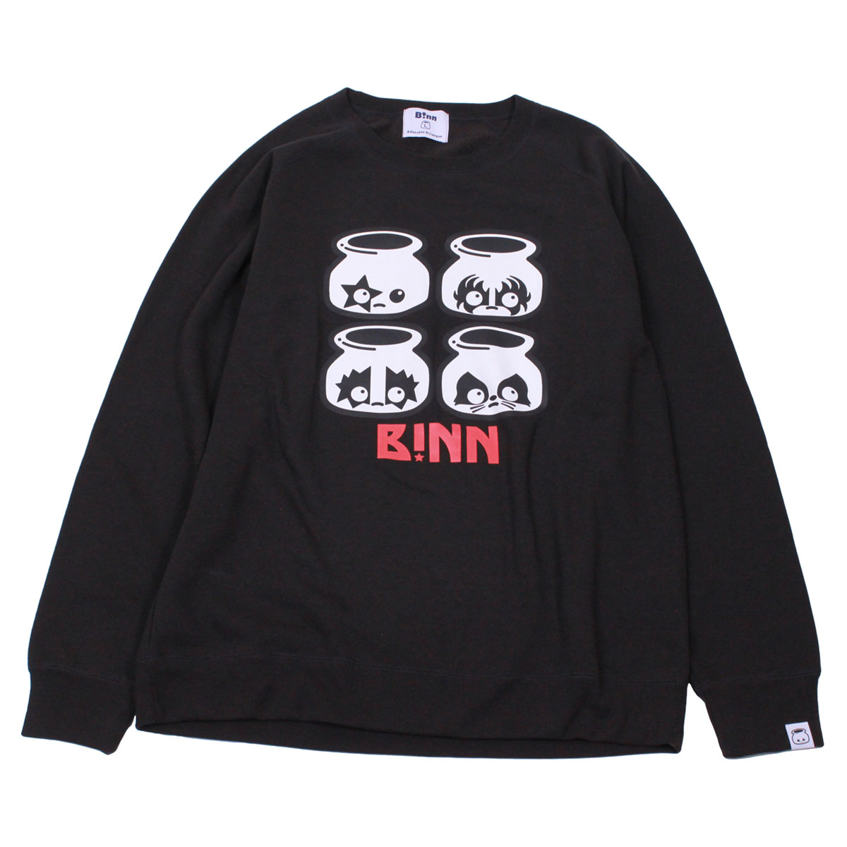 Rock'n B!nn Crew Neck Sweatshirt (Black)
