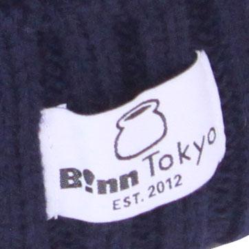 B!nn Basic Tag Beanie Cap (Navy)