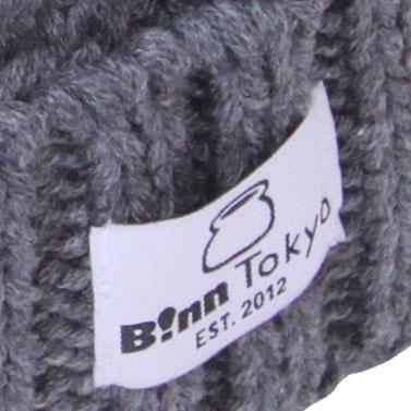 B!nn Basic Tag Beanie Cap (Gray)