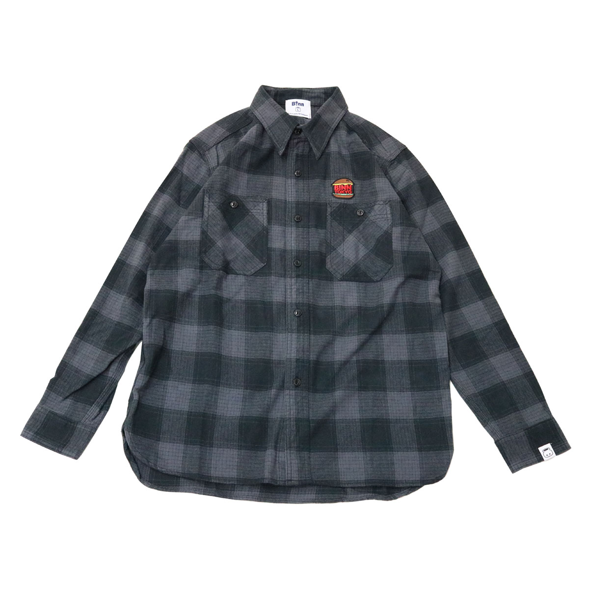 Burger Flannel Shirt (Gray x Black)
