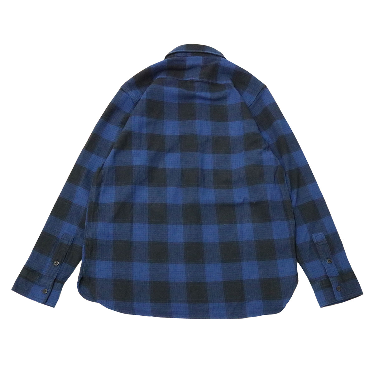 Burger Flannel Shirt (Blue x Black)