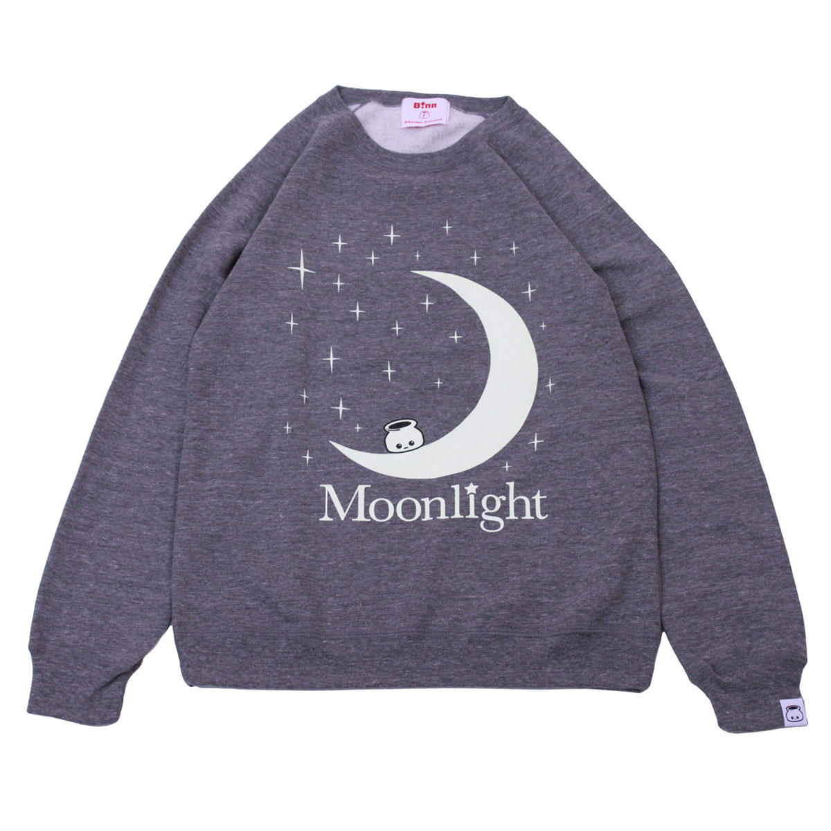 Moonlight Crew Neck Sweatshirt (HeatherGray)
