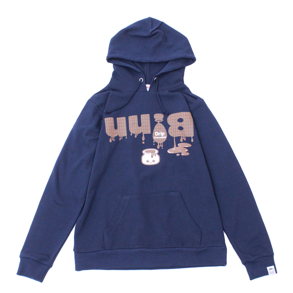 Drip Chocolate Pullover Hoodie (Navy)