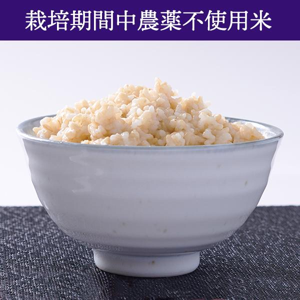 【5kg・栽培期間中農薬不使用米】おぼろづき・玄米