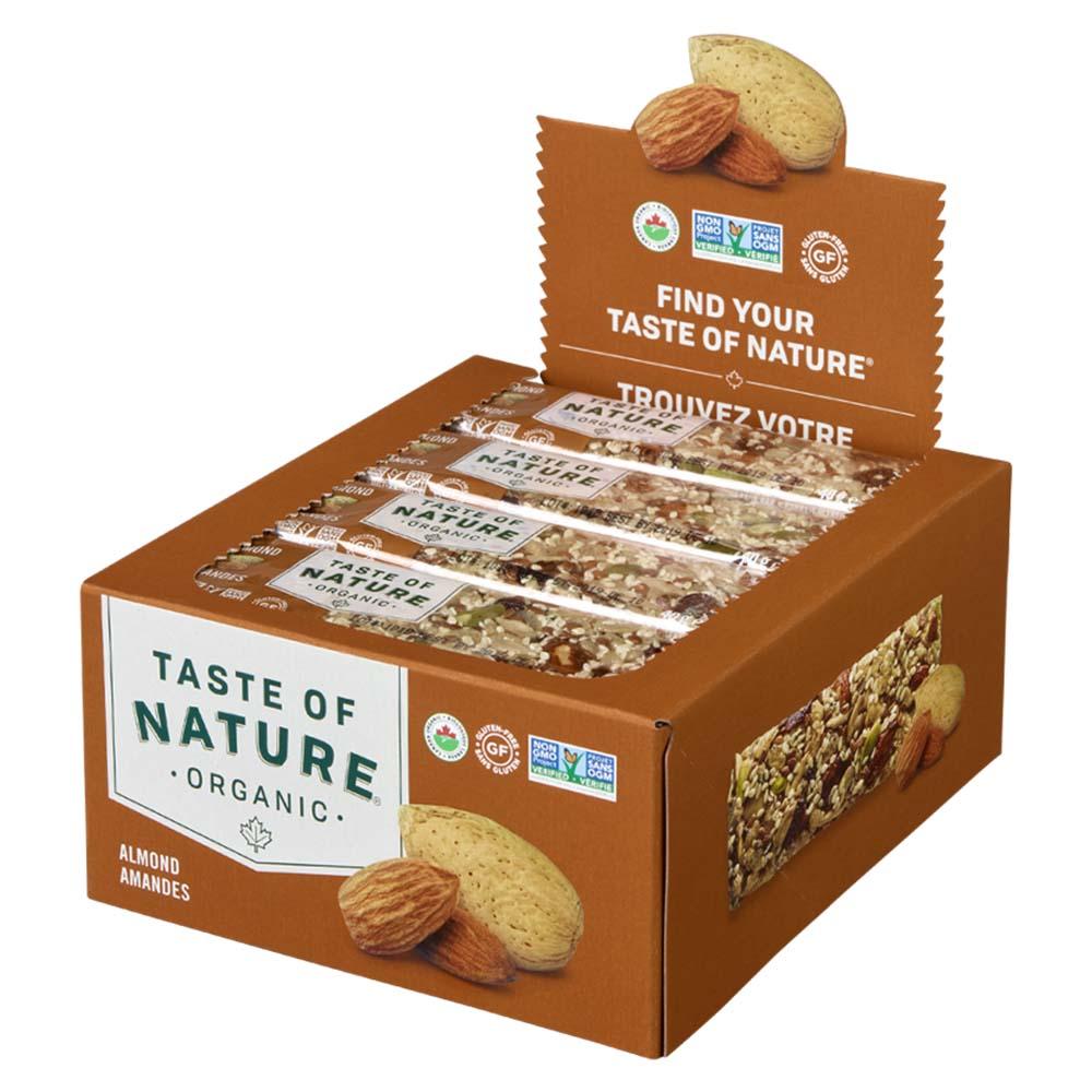 【定期購入】Taste of Natureオーガニックフルーツ&ナッツバーアーモンド 16本入
