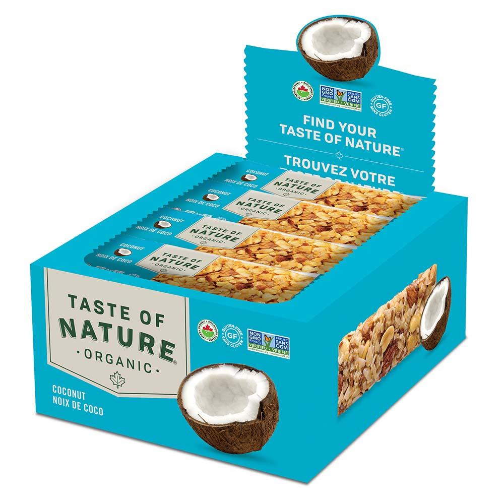 【定期購入】Taste of Natureオーガニックフルーツ&ナッツバーココナッツ 16本入