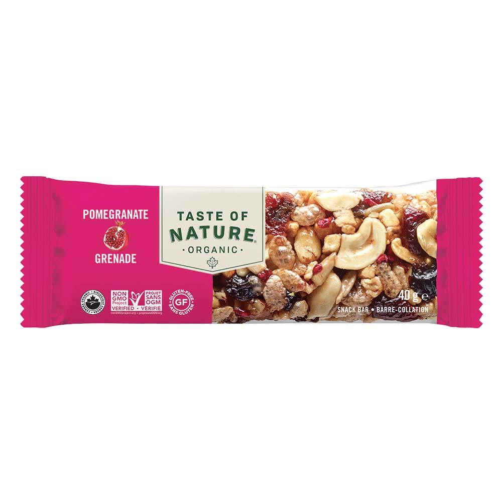 【定期購入】Taste of Natureオーガニックフルーツ&ナッツバーザクロ 16本入