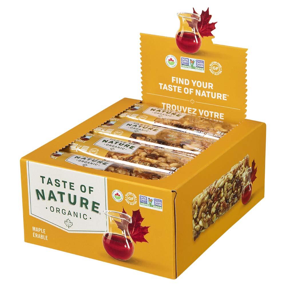 Taste of Natureオーガニックフルーツ&ナッツバーメープル 16本入