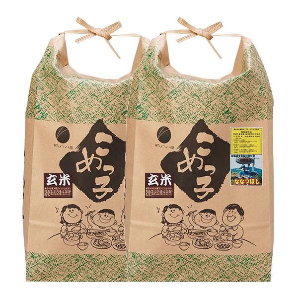 【10kg・栽培期間中農薬不使用米】ななつぼし・玄米