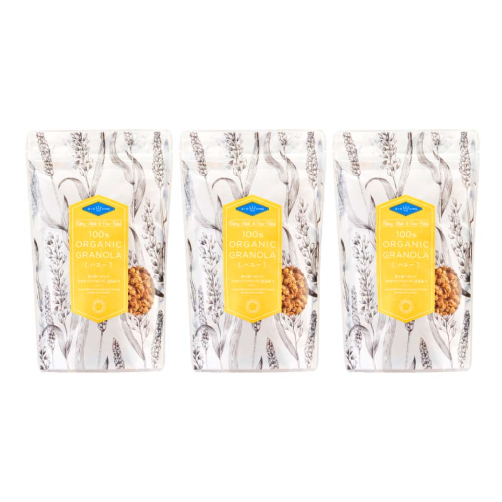 【定期購入】オーガニックグラノーラ ハニー200gx3袋セット