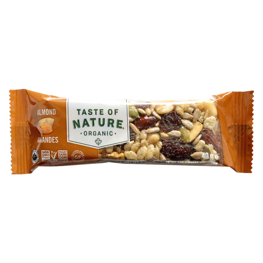 Taste of Natureオーガニックフルーツ&ナッツバーアーモンド 16本入