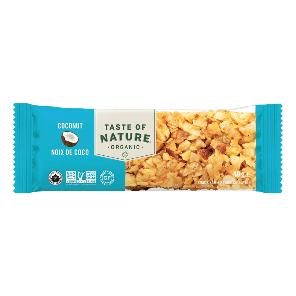 Taste of Natureオーガニックフルーツ&ナッツバーココナッツ 16本入