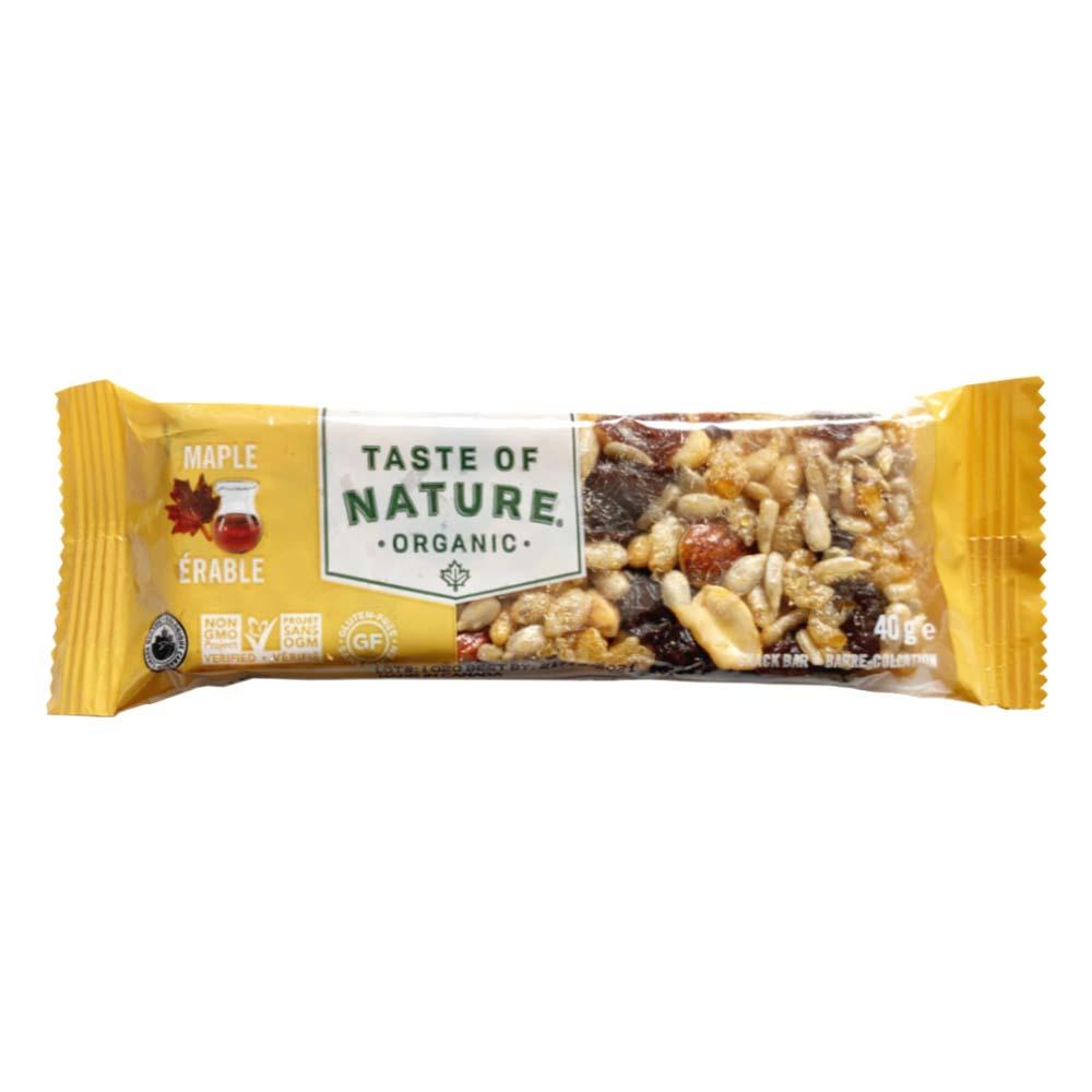 【定期購入】Taste of Natureオーガニックフルーツ&ナッツバーメープル 16本入