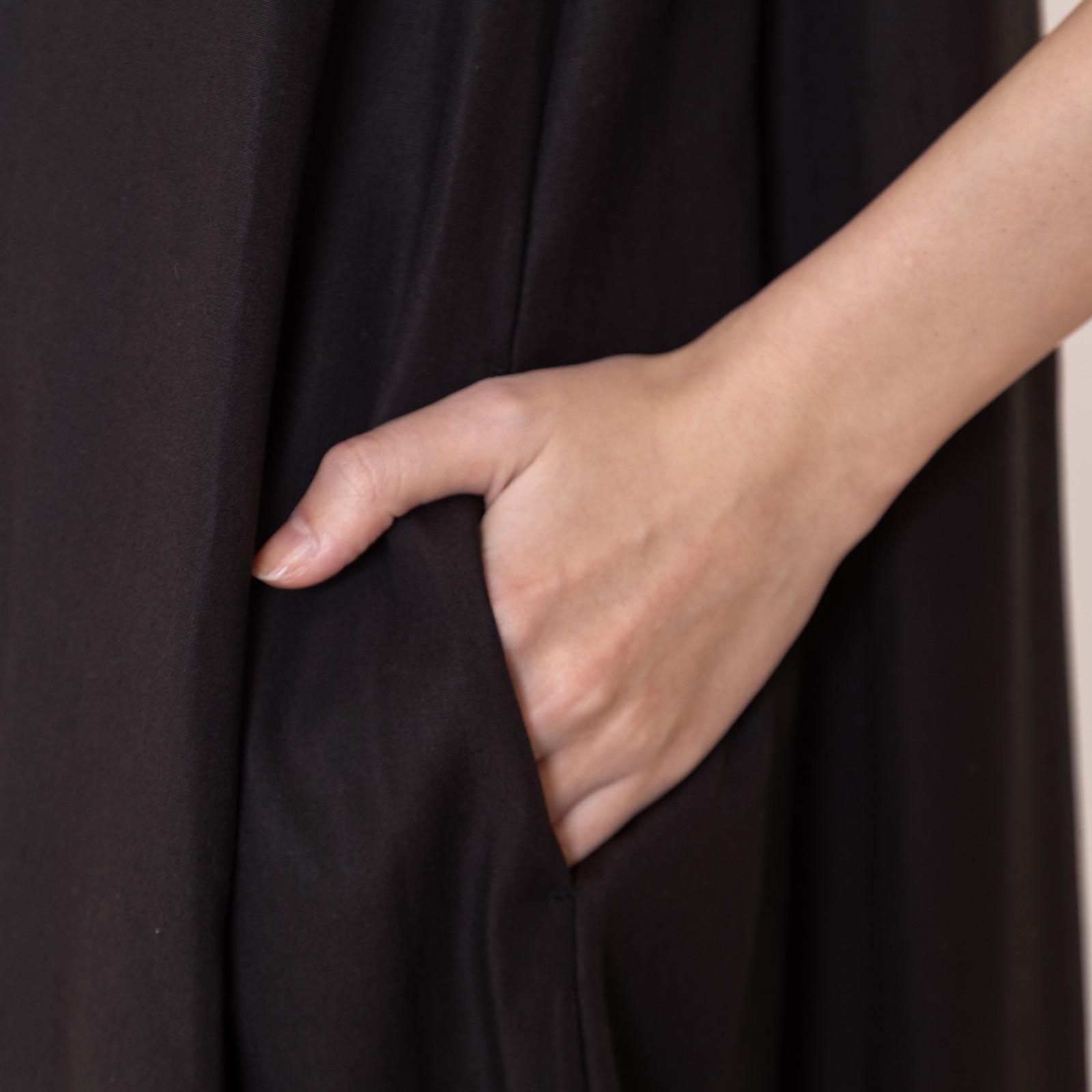 リヨセルリネンスクエアネックドレス