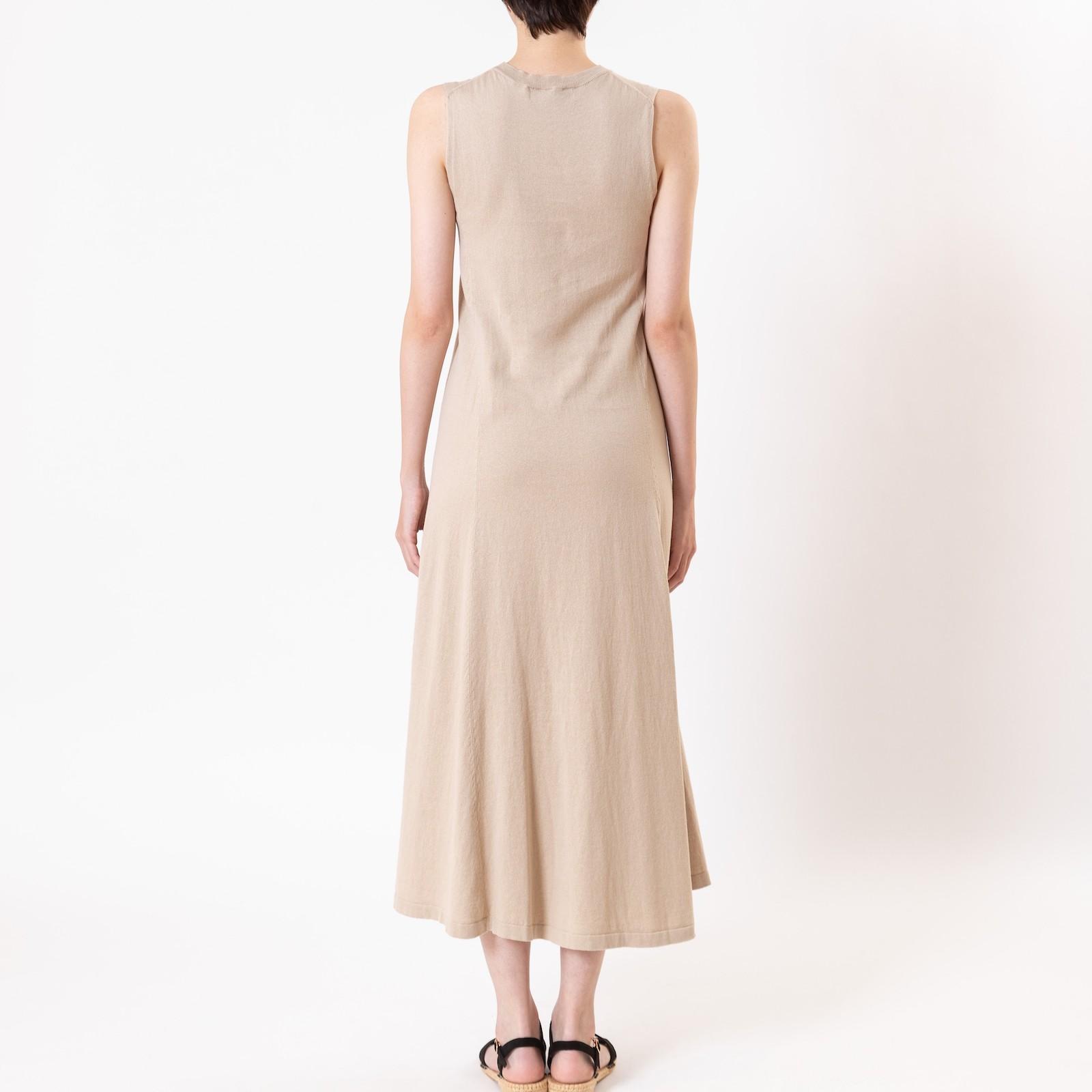 オーガニックコットンニットドレス