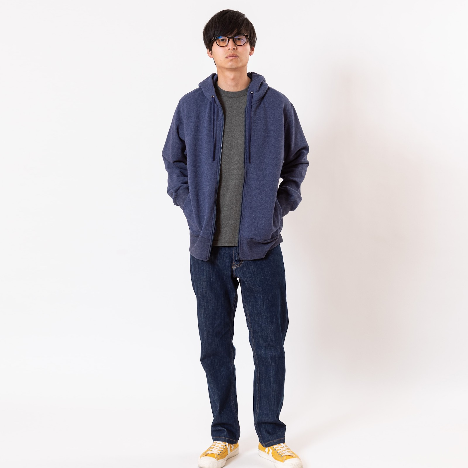【Unisex】RECOVER裏毛ジップアップパーカー