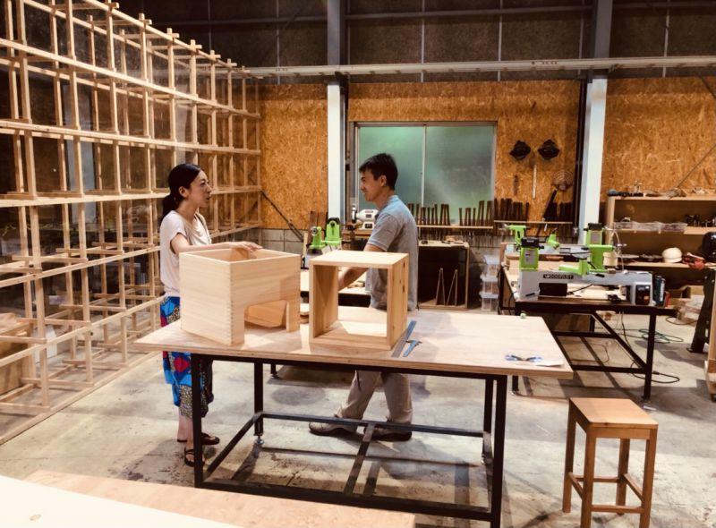 New ビオスチーム椅子(国産ヒノキ)/ クッション付き