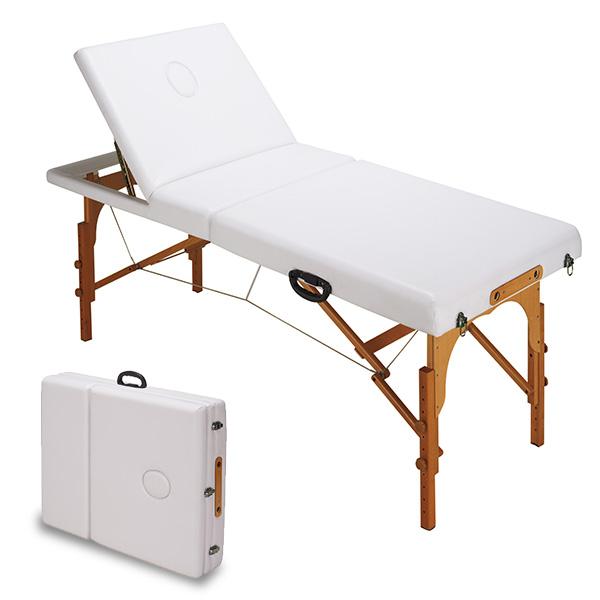 マッサージベッド 折り畳み 木製 リクライニング 高さ調節 CB-920