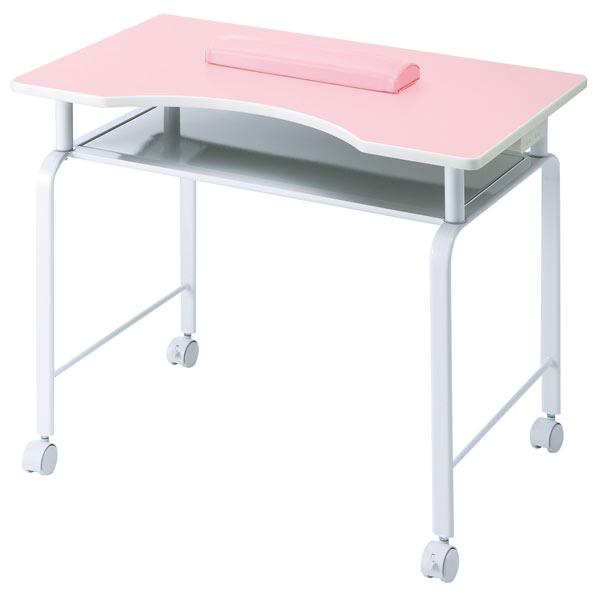ネイルテーブル デスク キャスター付 2色 送料無料