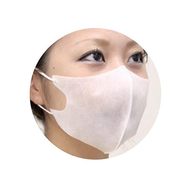 【使い捨てマスク】メガ立体マスク 耳掛タイプ 100枚入