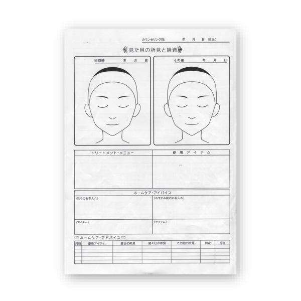 <カルテ>フェイシャル用カウンセリングカルテ 100部(A4×4P)