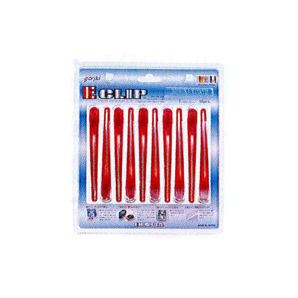 【ヘアクリップ】イークリップ Lサイズ 同色10本入り(安心の日本製)