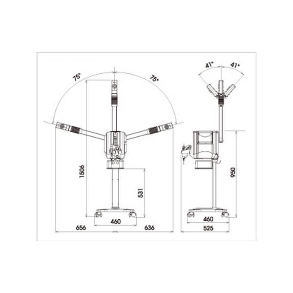 ノアージュSLFIP スチーマー複合美顔器(超音波・イオン導入)タカラベルモント
