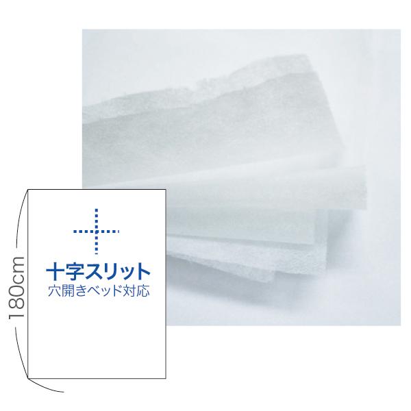 【非防水タイプ】ペーパーシーツ  十字スリットタイプ 4本入 80cm×90m