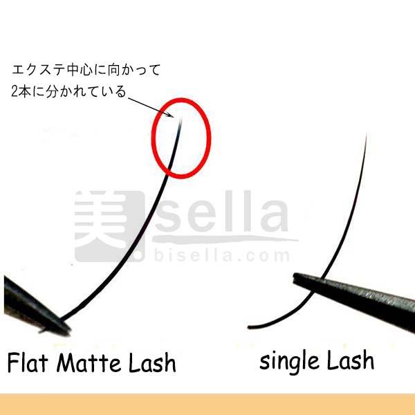 マット フラットラッシュ Dカール(太さ0.15mm)彩ラッシュ