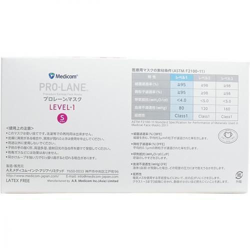 メディコム プロレーンマスク Sサイズ ピンク【50枚入】