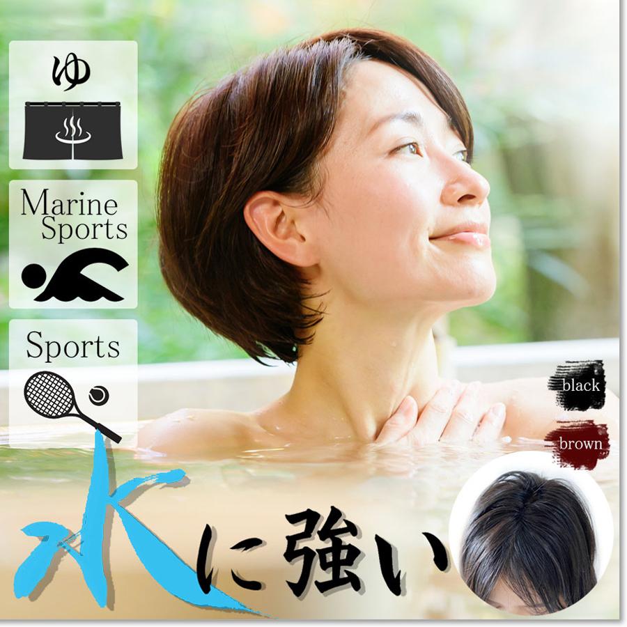 新感覚 日本仕上げ 水、汗、動きに強い アクティブ用ヘアピース S/M 人毛 100% スポーツ 部分ウィッグ 軽量 BISHUKU