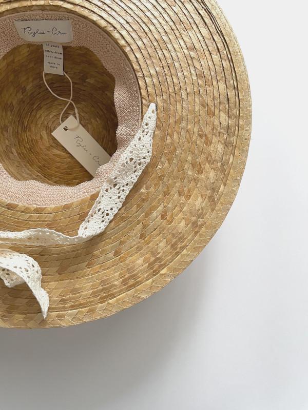 【SALE30%OFF】 Rylee&Cru   ribbon wide brim hat