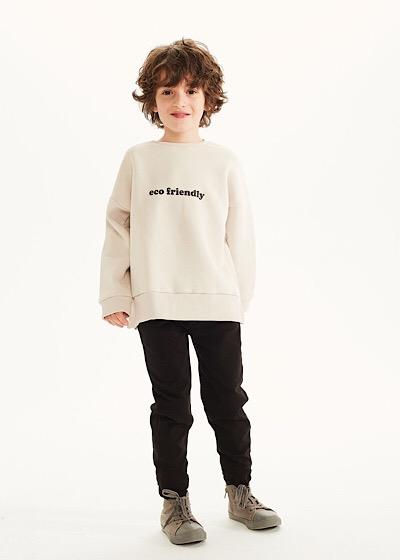 【SALE60%OFF】KIDS ON THE MOON    Eco Friendly Vanilla Sweatshirt