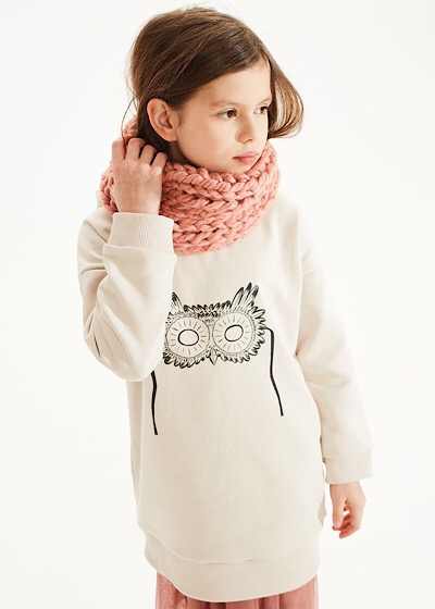 【SALE50%OFF】KIDS ON THE MOON    Pink Chimney Scarf