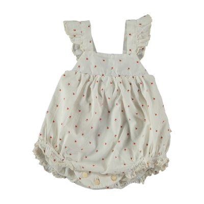 【SALE40%OFF】 MY LITTLE COZMO    ROMPER / IVORY-FRUITS