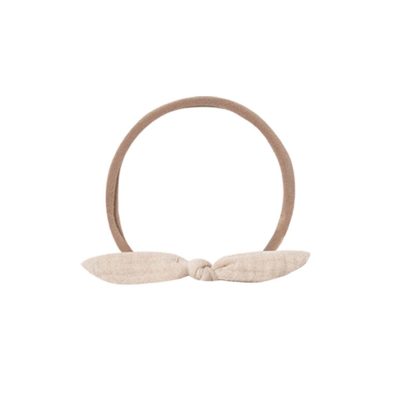 QUINCY MAE      Little Knot Headband / pebble